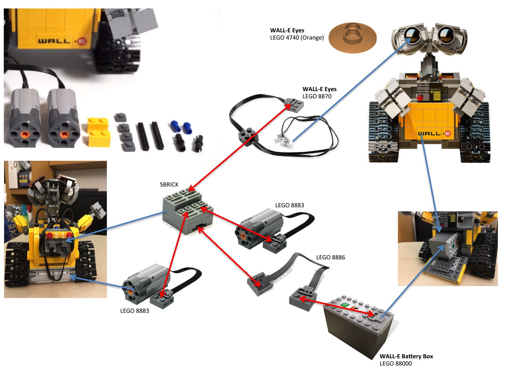 DIY – Lego Bluetooth Control WALL•E (Updated) | THE